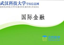 武汉科技大学全日制自考本科【国际金融】头像
