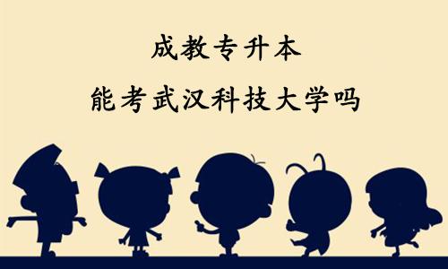 成教专升本能考武汉科技大学吗